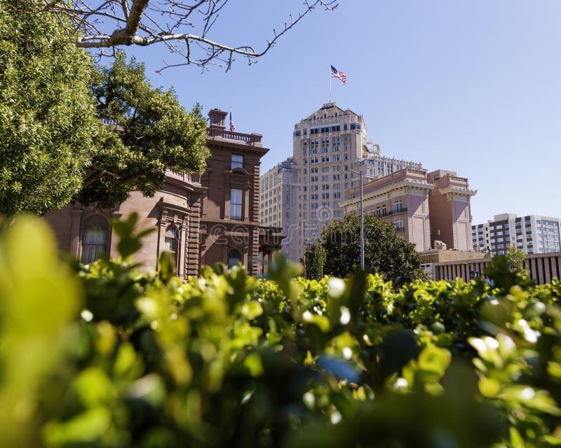 大厦低看法在旧金山 免版税库存图片