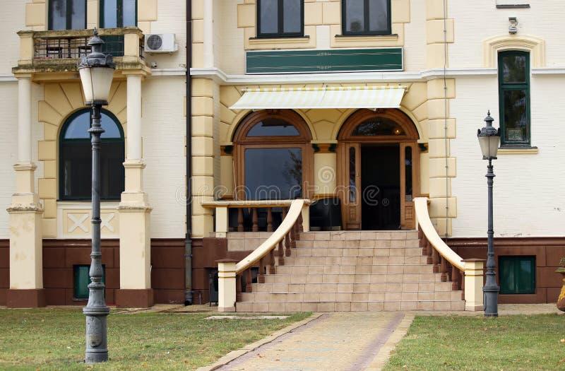 大厦入口Palic苏博蒂察塞尔维亚 库存图片