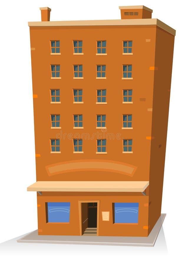 大厦动画片界面 库存例证