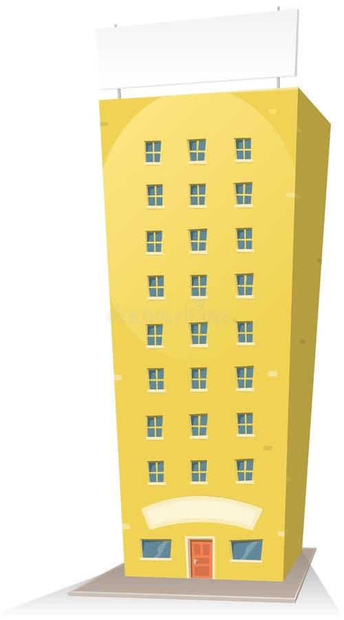 大厦动画片符号 向量例证