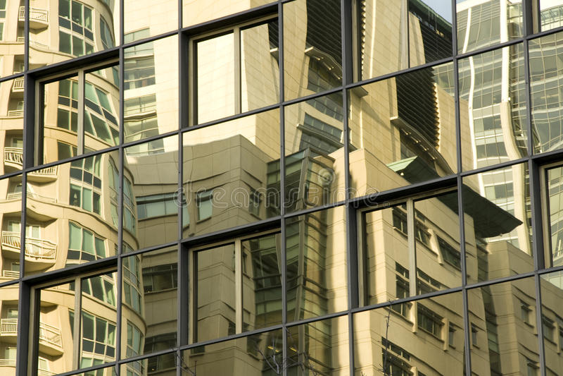 大厦反映 免版税库存照片