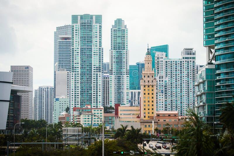 大厦古巴自由历史inmigration迈阿密塔 免版税库存照片