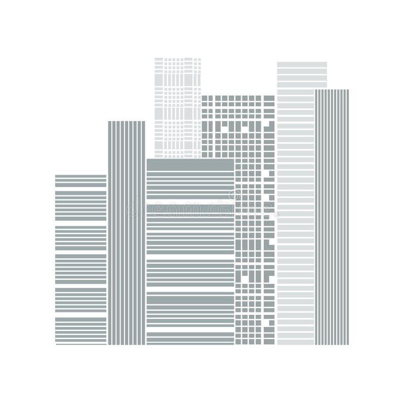 大厦和城市例证 皇族释放例证