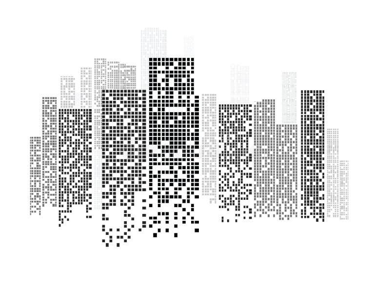 大厦和城市例证 库存例证