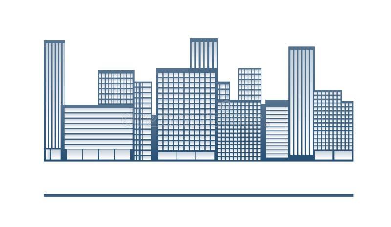 大厦和城市例证 向量例证
