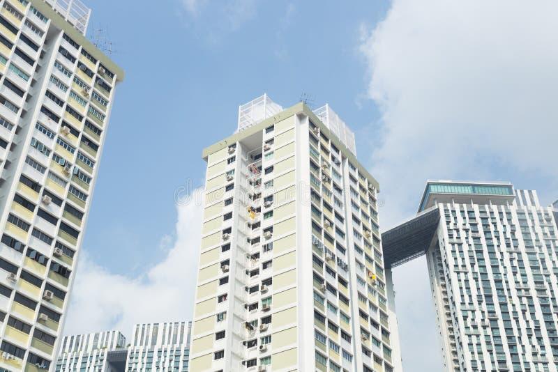 大厦和高层建筑物在新加坡 免版税库存图片
