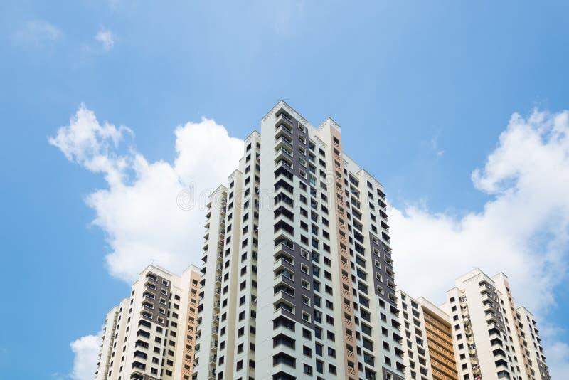 大厦和高层建筑物在新加坡 库存照片