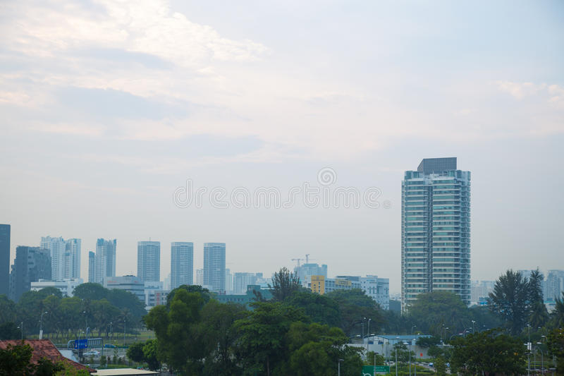 大厦和高层建筑物在新加坡 免版税图库摄影