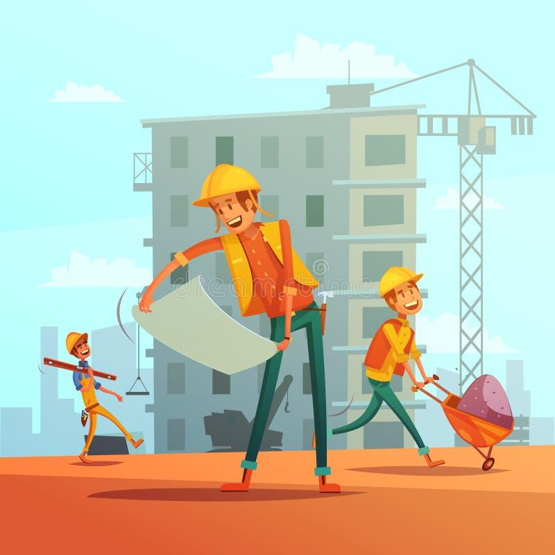 大厦和建筑业例证 库存例证