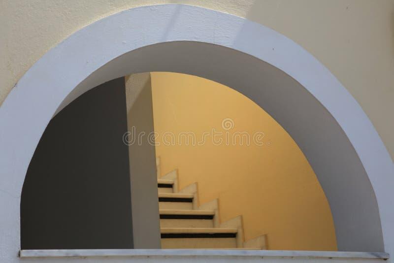 大厦在Santorini   免版税库存照片