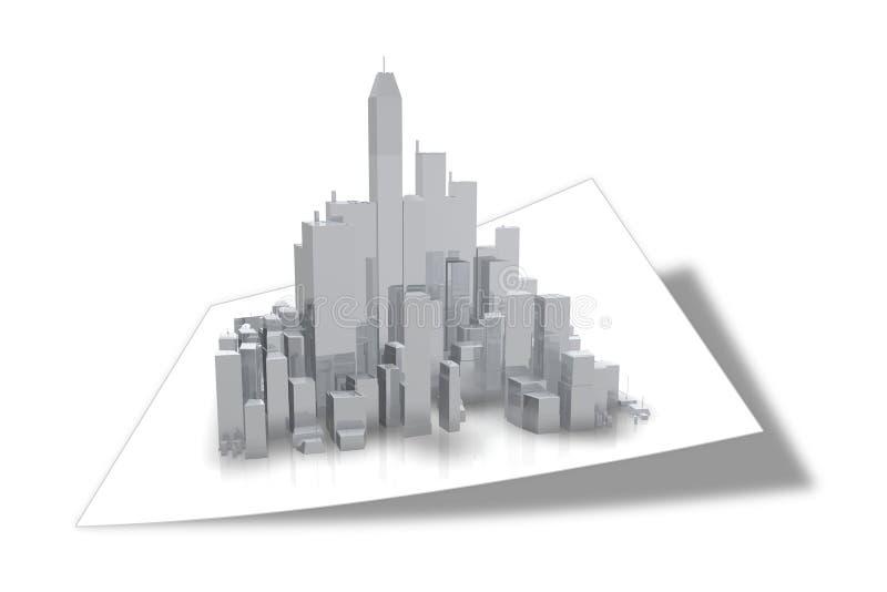 大厦商业 向量例证