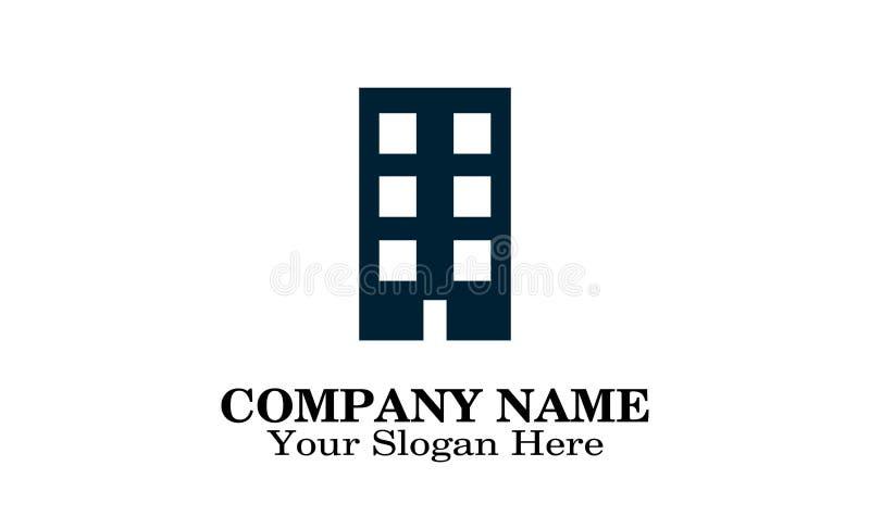 大厦商标设计 库存例证