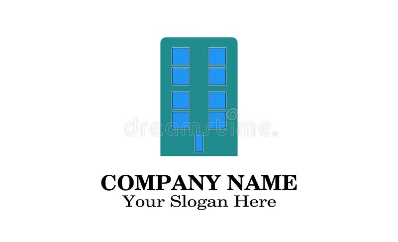 大厦商标设计 向量例证