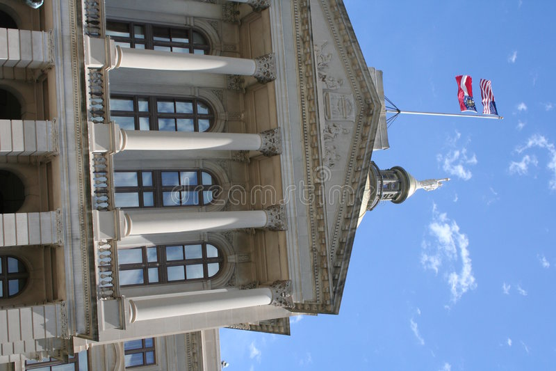 大厦国会大厦佐治亚状态 免版税库存照片