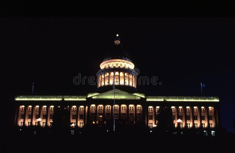 大厦国会大厦晚上状态犹他 免版税库存照片