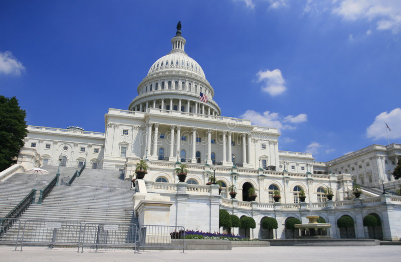 大厦国会大厦dc我们华盛顿 免版税图库摄影