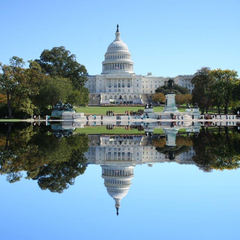 大厦国会大厦dc我们华盛顿 免版税库存图片