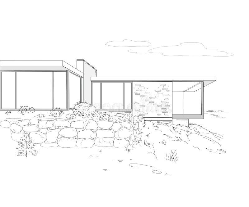Download 大厦图画 向量例证. 插画 包括有 要素, 庄园, 门面, 环境, 草拟, 住房, 图画, 平面, 发展 - 30334651