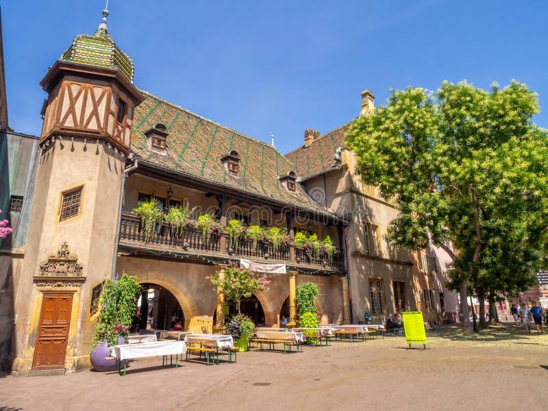 大厦在中世纪科尔马的心脏 图库摄影