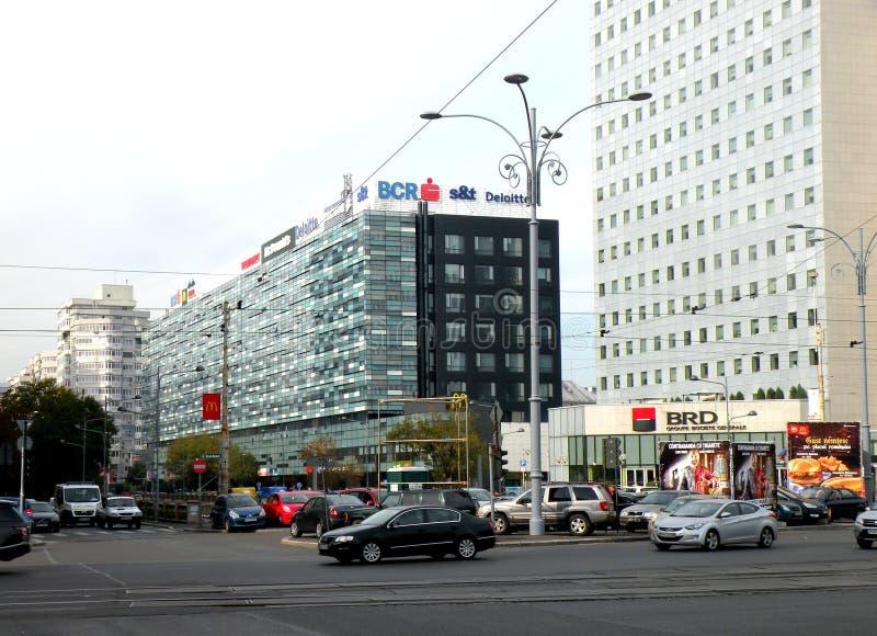 大厦在布加勒斯特 库存图片