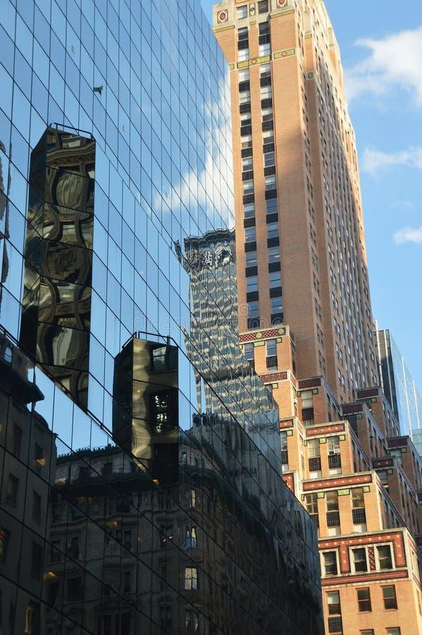 大厦在曼哈顿-纽约-美国 免版税库存图片