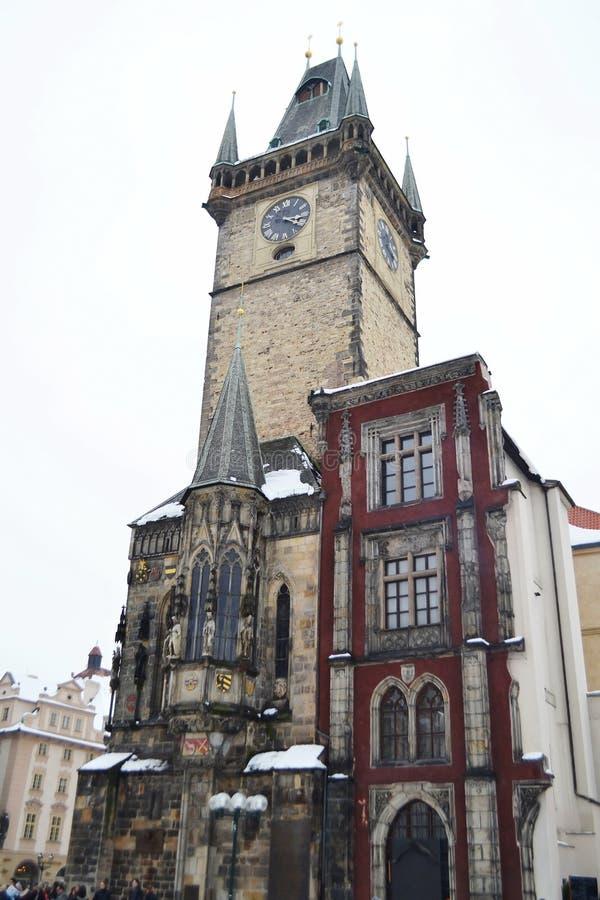 大厦在老镇中心在布拉格 免版税库存照片