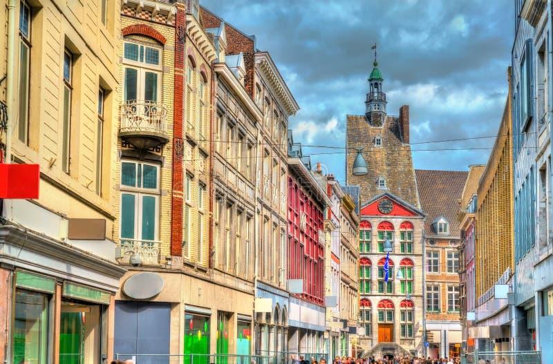 大厦在老镇马斯特里赫特,荷兰 免版税库存图片