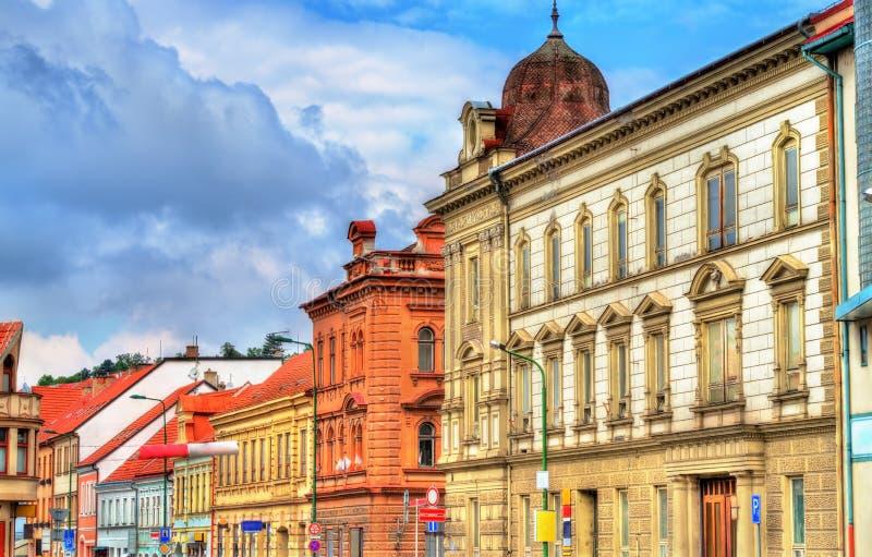 大厦在老镇Trebic,捷克 免版税库存图片