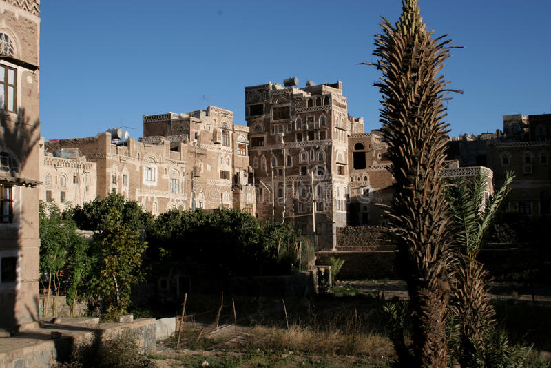 大厦在萨纳,也门 图库摄影