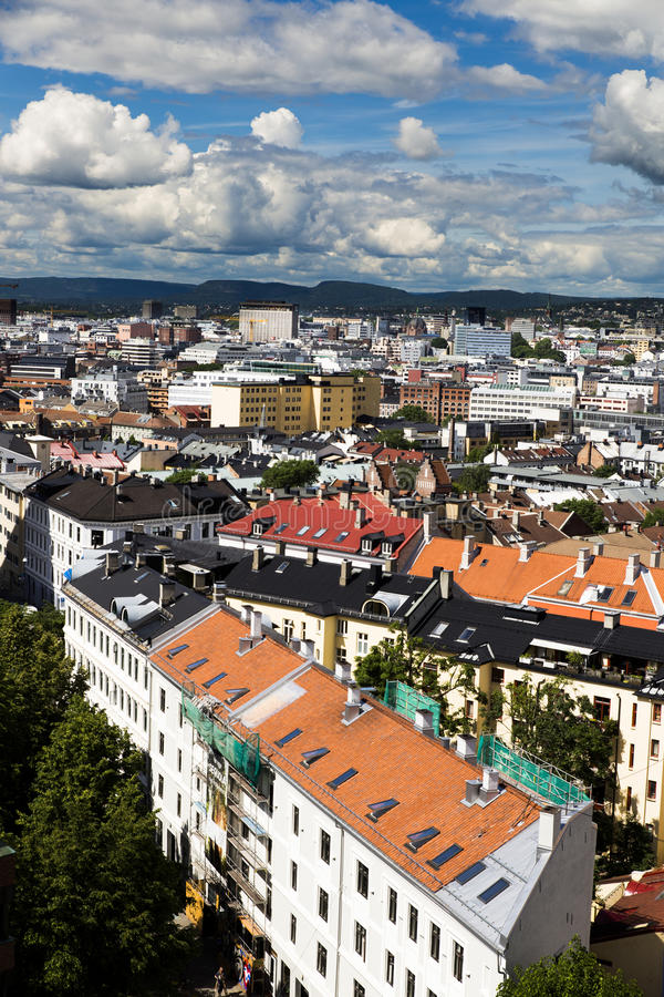 大厦在街市奥斯陆6 库存图片