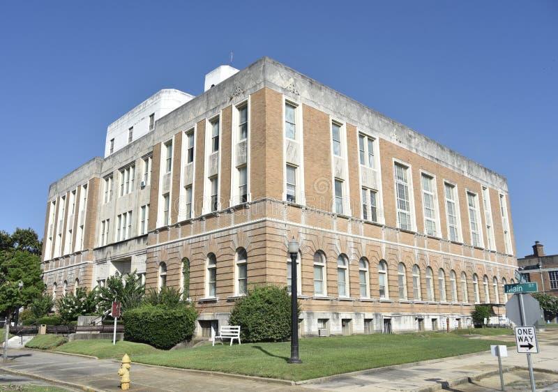 大厦在街市,子午线,密西西比 免版税库存图片