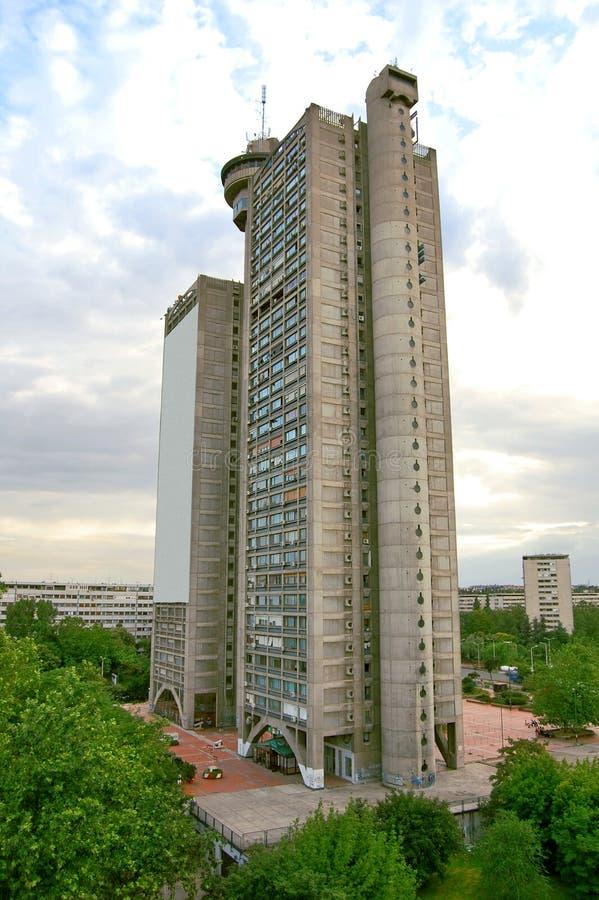 大厦在贝尔格莱德-城市的西部门 免版税库存图片
