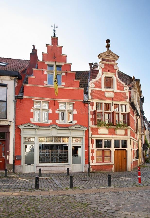 大厦在跟特 富兰德 比利时 免版税库存照片