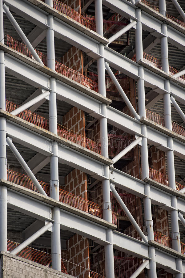 大厦在建筑在墨西哥城 库存图片