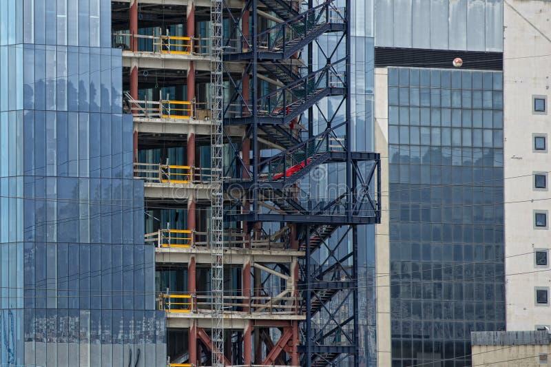 大厦在建筑 库存照片