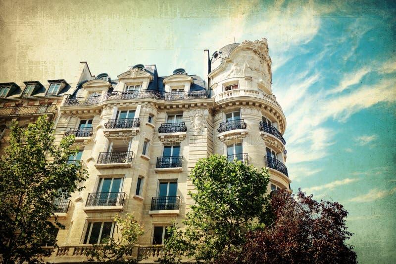 大厦在巴黎,法国欧洲 免版税库存图片