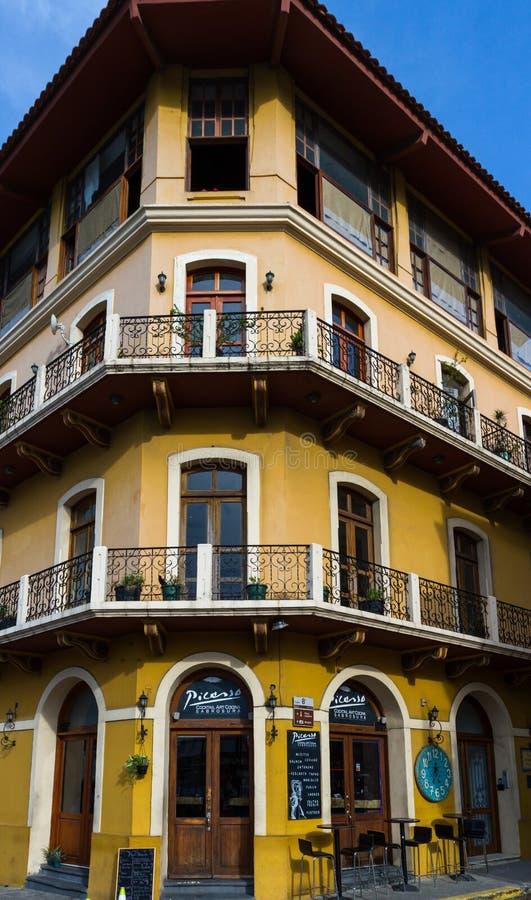 大厦在Casco Viejo,巴拿马 库存照片