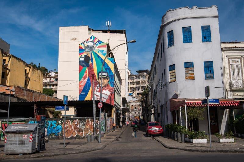 大厦在Lapa,里约热内卢 免版税库存照片