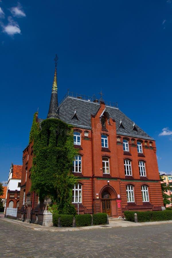 大厦在Nysa,波兰 库存照片