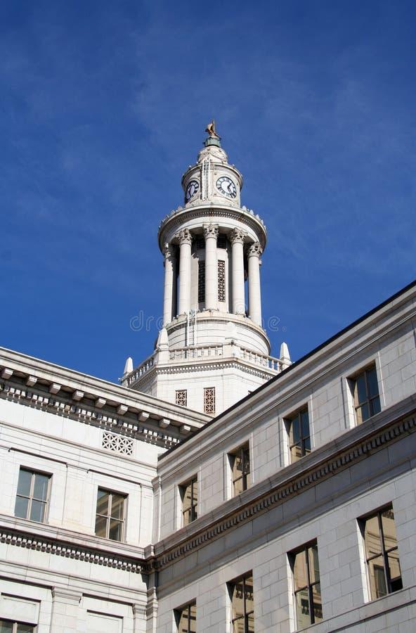大厦城市科罗拉多县丹佛 免版税库存照片