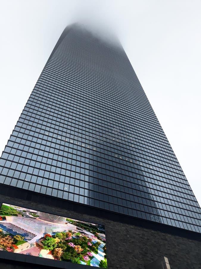 大厦城市高横向现代上升 库存图片