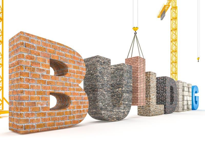 大厦字体概念 向量例证