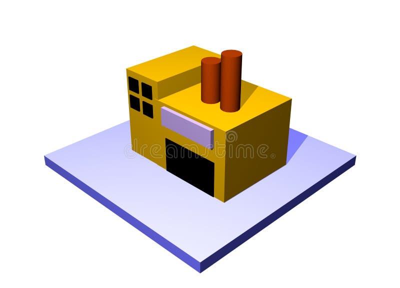 大厦工厂图标定位 向量例证