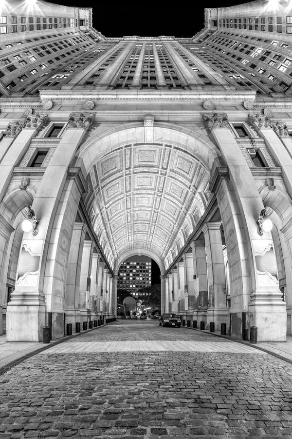 大厦市政的曼哈顿 免版税库存照片