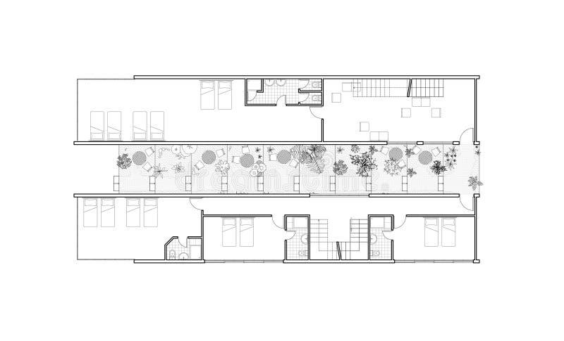 大厦庭院导致住宅 免版税库存图片