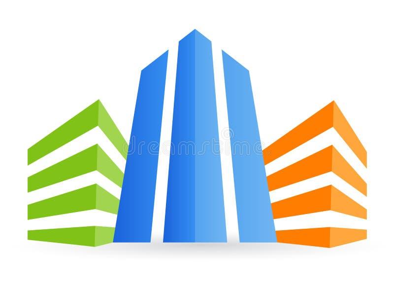 大厦徽标 向量例证