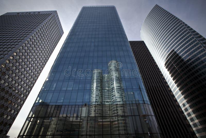 大厦总公司防御未来派la巴黎 库存图片