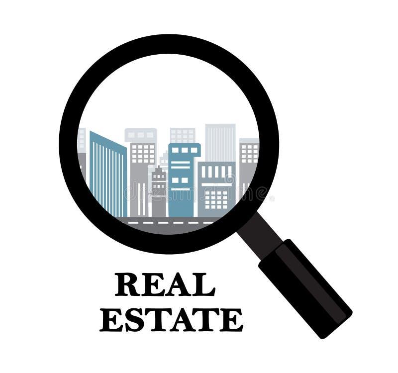大厦房地产和租务  向量例证