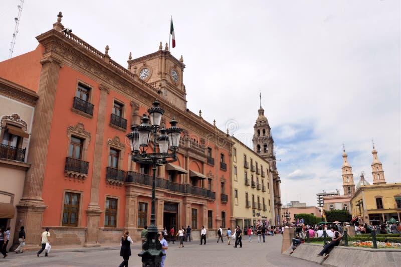 大厦政府利昂墨西哥 免版税库存图片