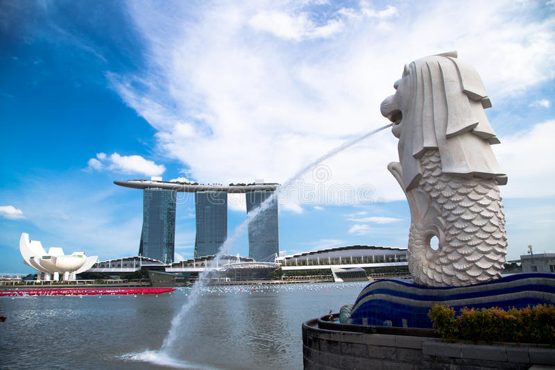大厦新加坡 免版税库存图片